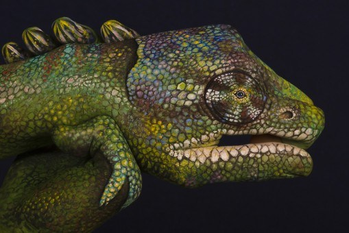 Chameleon-hand art