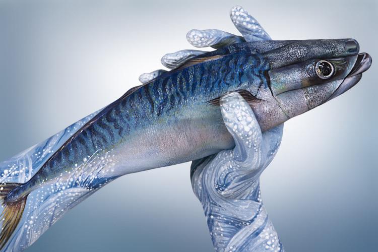 Fish hand art