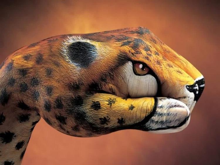 jaguar hand art