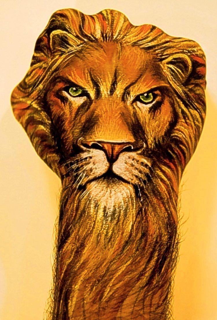 lion hand art